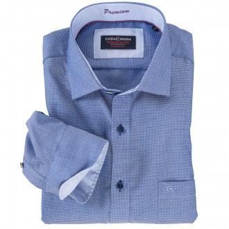 Modisches Cityhemd langarm blau_100 | XXL