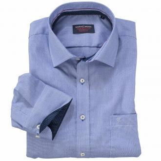 Modisches Cityhemd mit dezentem Muster langarm blau_100 | XXL