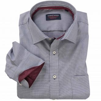 Modisches Cityhemd mit dezentem Muster langarm grau_750 | XXL