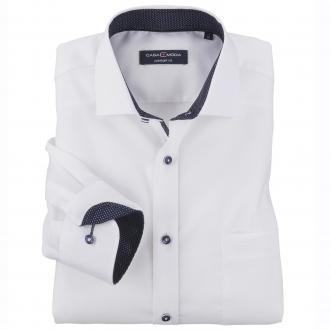 Kombistarkes City-Hemd mit Kontrasteinsätzen, langarm weiß/weiß_000 | XXL