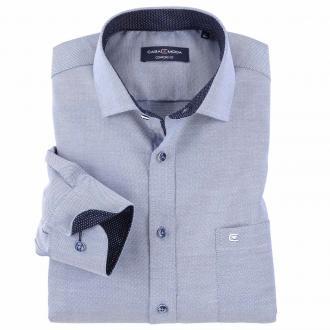 Kombistarkes City-Hemd mit Kontrasteinsätzen, langarm jeansblau_101 | XXL