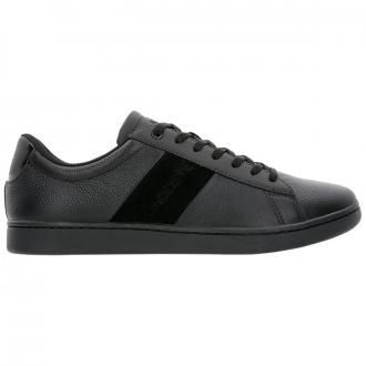 Sneaker aus Leder mit Veloureinsätzen schwarz_02H | 43