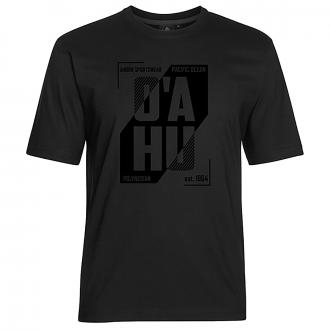 "T-Shirt mit ""O´AHU"" Print schwarz_77 | 3XL"