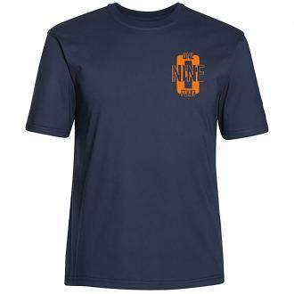 "T-Shirt mit kleinem ""NINE"" Print dunkelblau_544 | 3XL"