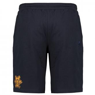 Kurze Jogging-Hose mit Hersteller Stickerei dunkelblau_544 | 5XL