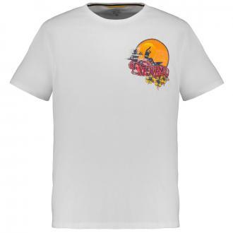 Sportliches T-Shirt mit Surf-Print natur_02/89 | 3XL