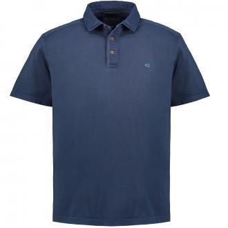 T-Shirt mit Hemdkragen, kurzarm dunkelblau_19   4XL