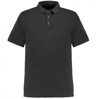 Poloshirt mit kontraststreifen, kurzarm anthrazit_37/35 | 3XL