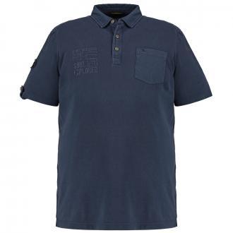 Klassisches Poloshirt mit Brusttasche, kurzarm dunkelblau_16 | 3XL