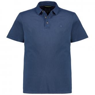 Unifarbenes Poloshirt in Single-Jersey-Qualität, kurzarm dunkelblau_16 | 3XL