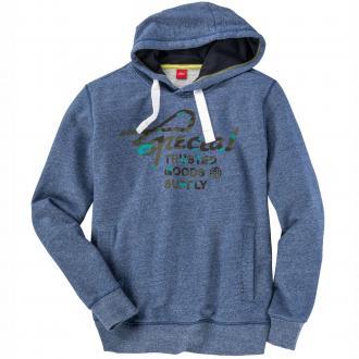 Meliertes Sweatshirt mit Kapuze dunkelblau_56W0 | 3XL