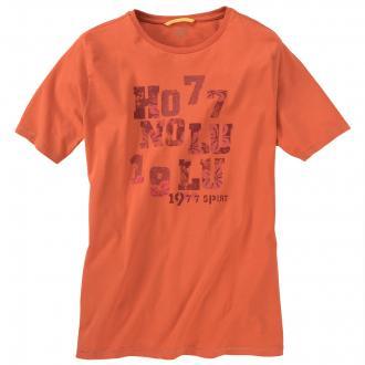 T-Shirt mit Vintage-Print orange_420 | 3XL