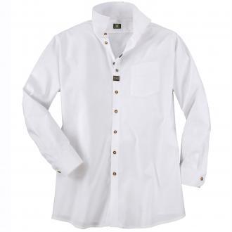 Festliches Trachtenhemd mit Verzierungen, langarm weiß_01 | 4XL