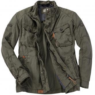 Lässige Jacke mit vielen Taschen, lang khaki_38 | 30