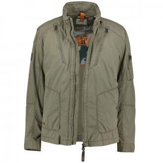 Jacke mit schrägen Napoleontaschen oliv_34   60