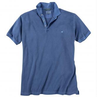 Poloshirt mit Logo-Stickerei blau_16 | 3XL