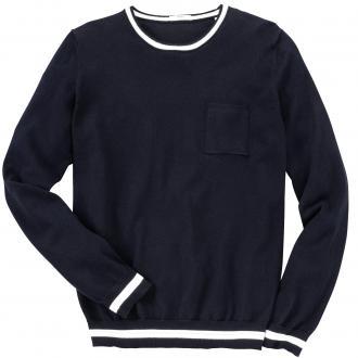 Klassisch eleganter Pullover marine_230 | 62