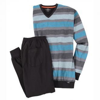 Schlafanzug mit V-Ausschnitt grau_832 | 58
