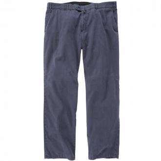 Leichte Bundfaltenhose mit Stretch und Dehnbund blau_77 | 29