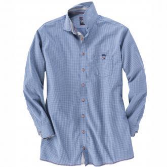 Freizeit Langarmhemd blau_100 | 3XL
