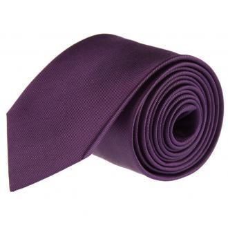 Krawatte aus Seide lila_09 | One Size