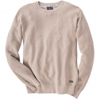 Leichter Baumwoll Pullover beige_610 | 4XL