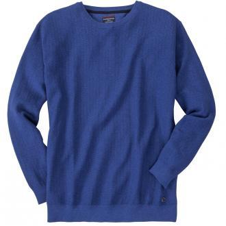 Rundhalspullover langarm blau_128 | 3XL
