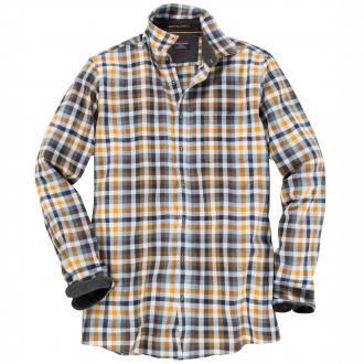 Softflanell-Freizeithemd im Karo-Design langarm gelb_500 | 3XL