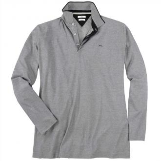 Langarm-Poloshirt schwarz_02 | 3XL