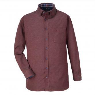 Weiches  Cashmere-Flanellhemd mit Button-Down-Kragen rot_400 | XXL