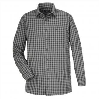 Karriertes Freizeithemd mit langem Arm grau_750 | XXL