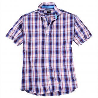 Kariertes Kurzarmhemd blau/rot_03560 | XXL