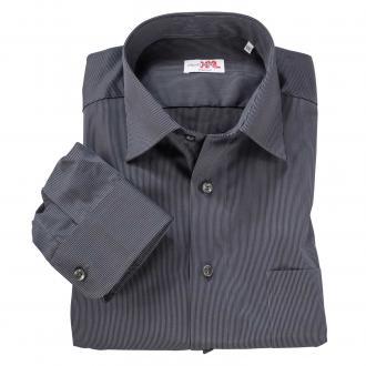 Business-Langarmhemd schwarz/weiß_8000 | 3XL