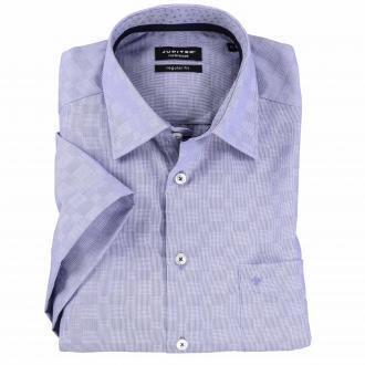 Cityhemd, bügelfrei, kurzarm blau_154 | XXL