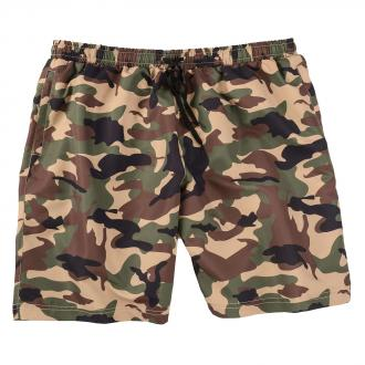 Badeshort mit Camouflage-Muster oliv_CAMOUFLAGE | 3XL