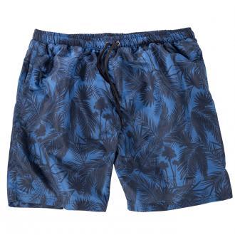 Badeshorts mit Palmen-Muster blau/dunkelblau_PALM BLUE | 6XL