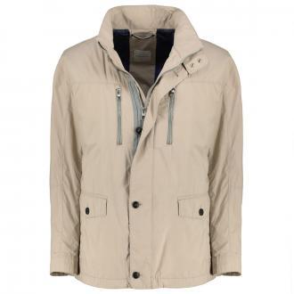 Lange Jacke mit praktischen Taschen beige_40 | 31