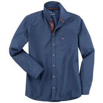 Vielseitiges City-Hemd mit Kontrasteinsätzen, langarm blau_158 | XXL