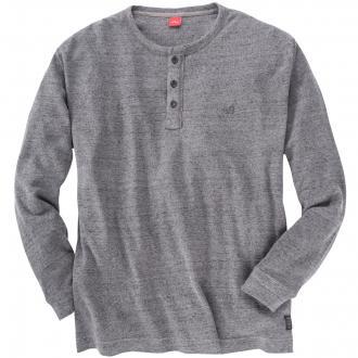 Pullover mit Knöpfen mittelgrau_98W0 | 4XL
