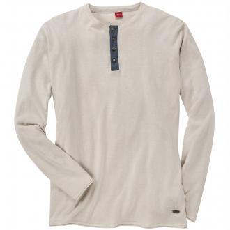 Sommerlicher Pullover mit Knopfleiste beige_0330 | 3XL