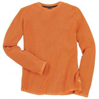 Leichter Strick-Pullover orange_2375 | 3XL