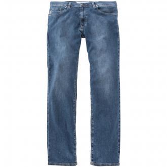 Jeans mit dezenter Used-Waschung und Stretch-Anteil blau_145 | 37