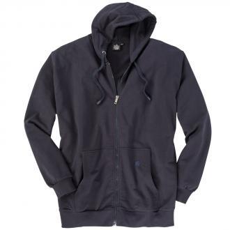 Sweat-Jacke mit Kapuze blau_544 | 3XL