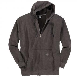 Sweat-Jacke mit Kapuze grau_70 | 3XL