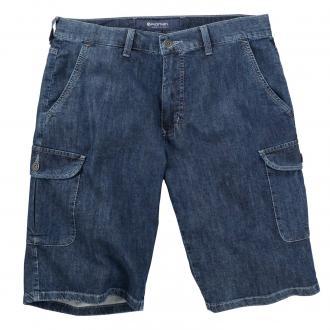 Leichte Jeans-Short mit Cargotaschen und Stretch jeansblau_610   31