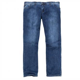 Modische Stretch-Jeans in natürlich wirkender Used-Waschung blau_25 | 31