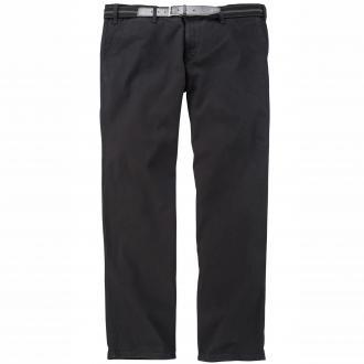 Jeans mit bequemen Seitentaschen und Gürtel schwarz_101 | 56