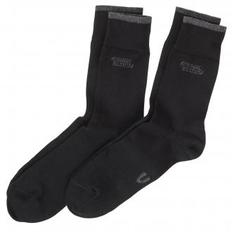 Socken im Doppelpack mit elastischem Bündchen schwarz_610 | 47-50