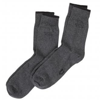Socken im Doppelpack mit elastischem Bündchen dunkelgrau_620 | 47-50