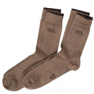 Socken im Doppelpack mit elastischem Bündchen beige_798 | 47-50